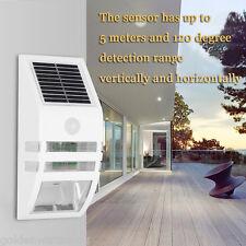 SOLAR POWER WALL MOUNT MOTION SENSOR OUTDOOR LIGHT GARDEN PATH LED SECURITY LAMP