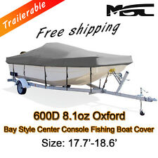 MSC  17.7'-18.6' 600D Marine Grade Styled to fit Centre Console Boat Cover Grey