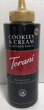 Authentic Coffeehouse Flavor Torani Cookies & Cream Sauce 16.5 oz Bottle New