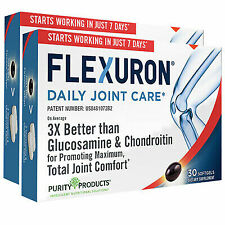 Flexuron Joint Formula by Purity Products Astaxanthin/Hyaluronic/Krill 2 Pack 60