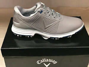 "NEW Callaway Coronado Grey/Blue ""Waterproof"" Men's Golf Shoes 8M Were $155"