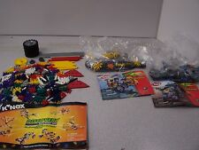 3 sets k'nex building toy thrasher discovery buzzcut lot 99% complete battlers