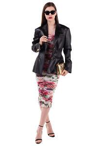 RRP €1845 VERSACE Satin Coated Blazer Jacket Size 40 / S Medusa Made in Italy