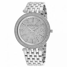 New Michael Kors Darci Silver Pave Crystal Stainless Steel MK3437 Ladies Watch