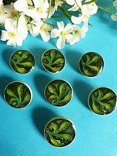 """1014/Stunning Buttons """" Chimaera """" Green Fir Lot 7 Buttons ÉP.1950"""