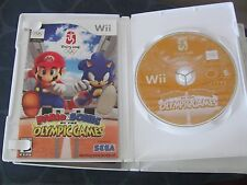 Wii Mario & Sonic at the Olympic Games TESTED COMPLETE DISC BOOK CASE