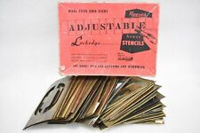 """REESE'S ADJUSTABLE BRASS STENCILS NO. 118 4"""" LETTERS & FIGURES 10154 690211"""