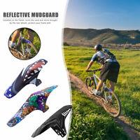 enlee Bicycle Front Rear Wheel Fender Reflective MTB Mountain Bike Mudguard
