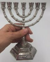 Brass Jerusalem Temple 7 branches MENORAH, Menorah  Judaica free shipping