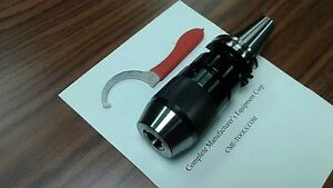 """3/4"""" CAT40 Ball Bearing Keyless Drill Chuck Integral shank design #DCK-CAT40-34"""