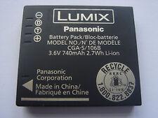 Original-AKKU Panasonic LUMIX CGA - S/106b Akku DMC-FS10 FP8 TS1 FX700 FX7