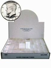 Half Dollar Square Coin Tube Storage, Numis Brand, 30.6mm, 100pk