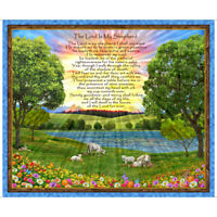 "Waterfall with White Doves 100/% Cotton Fabric /""23rd Psalm/"" Spring Fabric"