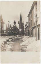 Abingdon, East St. Helens Street Winter Snow 1908 RP Postcard B831