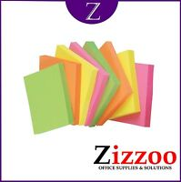 1200 NEON REMOVABLE STICKY NOTES 75MM X 75MM (12 PACKS OF 100 NOTES)