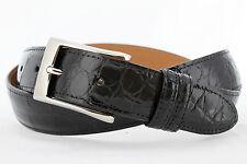Genuine American Alligator black glossy finish Custom handmade belt (Size 32-44)