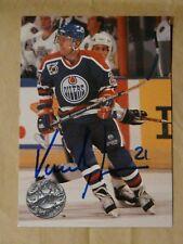 Vincent Damphousse Edmonton Oilers autographed card