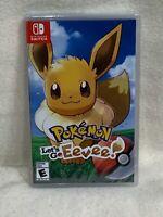 Brand New Nintendo Switch Pokemon Let's Go Eevee Video Game FREE SHIP TO US & PR