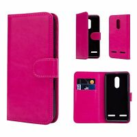 Book Wallet PU Leather Case Cover For Lenovo Phones + Screen Protector & Stylus
