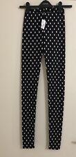 Ladies DOTTI Black/White Polka Dot Knit Leggings. Size 4-6. NWT $39.95
