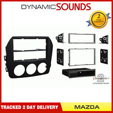 CT24MZ20 Stereo Single/Double Din Matt Black Fascia Adaptor For Mazda MX5 09-15