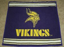 NFL Minnesota Vikings Biederlack Reversible Purple Gold Logo Blanket Vintage