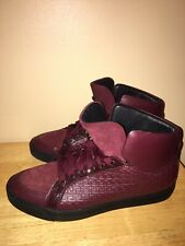 VERSACE GREEK KEY LEATHER PATENT MEDUSA Hi Top Sneakers Sz 44/11 SOLD OUT