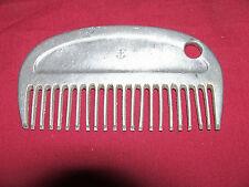 Old Horse Mane Comb North Judd US Navy Anchor Logo USN Vintage Aluminum Horses