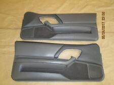 97-99 Camaro Z28 RS SS Door Panels Med Gray Leather LH RH Pair 0525-15