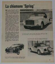 Article Articolo 1967 SIATA FIAT 850 SPRING