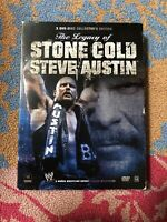 WWE - Stone Cold Steve Austins Life  Legacy (DVD, 3-Disc Set)