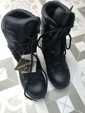 More details for black goretex boots with vibram soles size 6m new