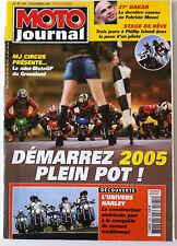 MOTO JOURNAL du 23/12/2004; L'univers Harley/ Le mini Moto GP du Groenland