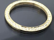 LADIES 14K GOLD DIAMOND BEZEL 1.00CT FOR ROLEX DATE JUST 69173 69178 6917 79173