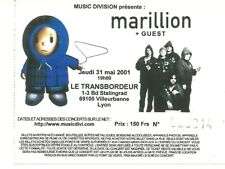 RARE / TICKET BILLET PLACE DE CONCERT - MARILLION : LIVE A LYON ( FRANCE ) 2001