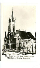 Vintage RPPC Postcard VIRGINIA CITY NV St Mary's Church in the Mountains exterio