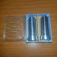 New listing Vintage Vita Craft Stainless Steel Mirror Shine Salt & Pepper in Original Box