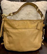 Coach F12735 Zoe Gold Patent Leather Handbag