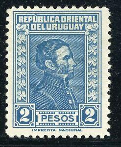 URUGUAY MH Selections: Scott #483B 2P Blue IMPRENTA NACIONAL CV$14+