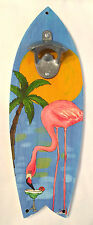 Wall Mounted Surfboard Bottle Opener Bar Pub Tavern Tropical Beach Decor