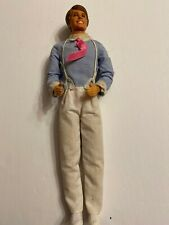 Ken Barbie Doll 1968 Taiwan Mattel Poseable Knees 14451 Outfit Shoes Hearts