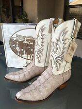 NEW LUCCHESE CLASSICS SABLE CROCODILE TAIL COWBOY WESTERN BOOTS 12 EE
