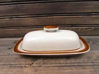 Brown Monterrey by Merchandise Service Covered Butter Dish Brown Band & Verge