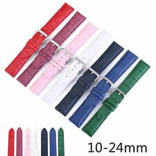 10-24mm Crocodile Pattern Cowhide Leather Strap Watch Band Wrist Bracelet Belts