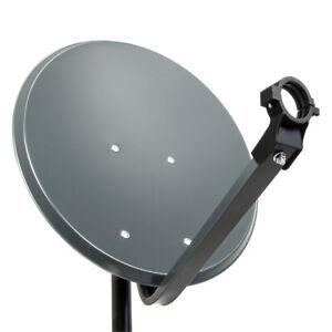 PremiumX PXS45 Satellitenschüssel 45cm Stahl Anthrazit Satantenne SAT Spiegel