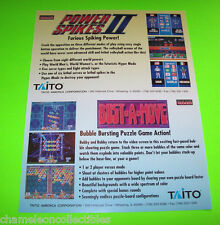 BUST A MOVE POWER SPIKES II NEO GEO TAITO ORIGINAL NOS VIDEO ARCADE GAME FLYER
