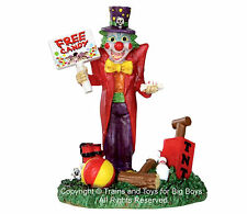 Lemax 32102 FREE CANDY CLOWN Spooky Town Figure Halloween Decor Figurine S O G I