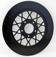 "Front Lyndall Black Composite Lug-Drive floating Gemini 11.5"" rotor Harley"