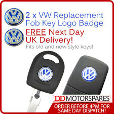 2 x VW KEY FOB/REMOTE BADGE STICKER EMBLEM  GOLF BORA PASSAT GTI TDI 14MM