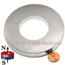 "N42 4""Od x 2"" Id x 1/2"" NdFeB Neodymium Ring Magnet 1-Count"
